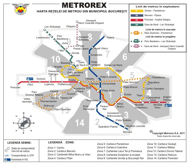 noua harta metrou - 1 iulie 2011
